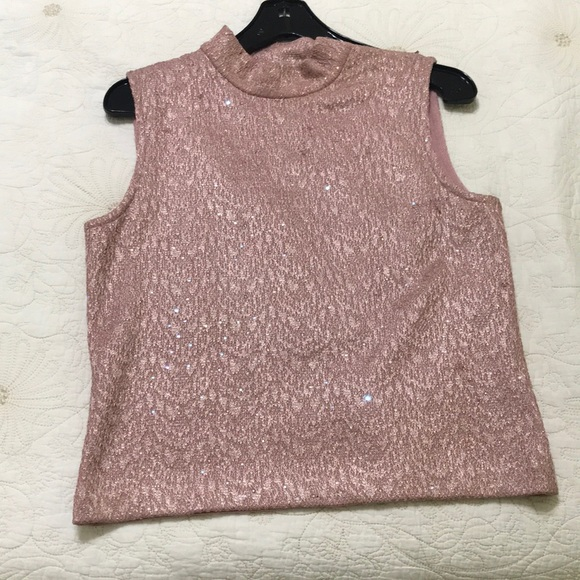 St. John Tops - pink sparkly top
